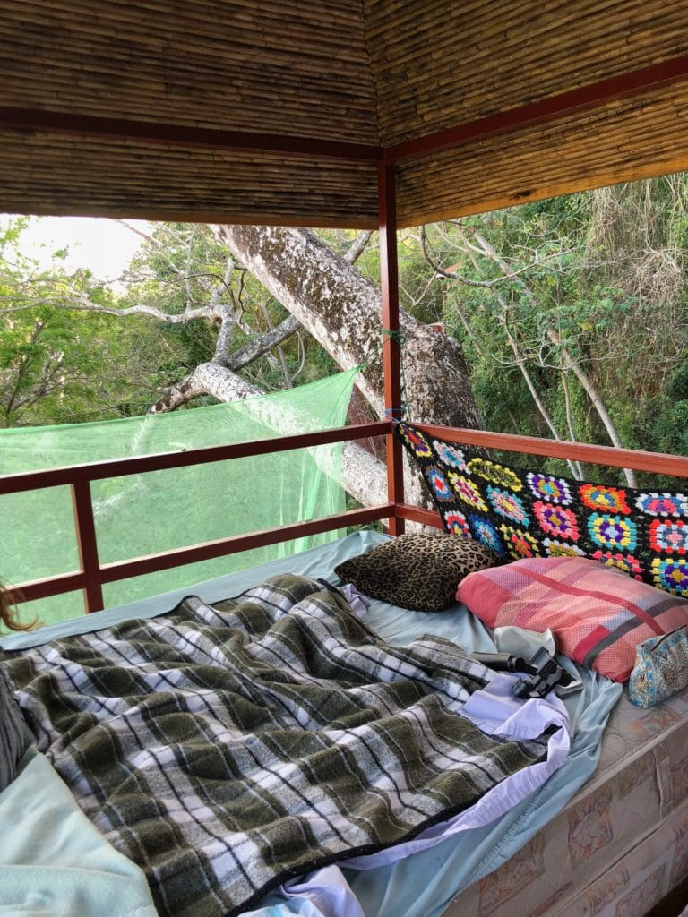 bed in a treehouse nicaragua